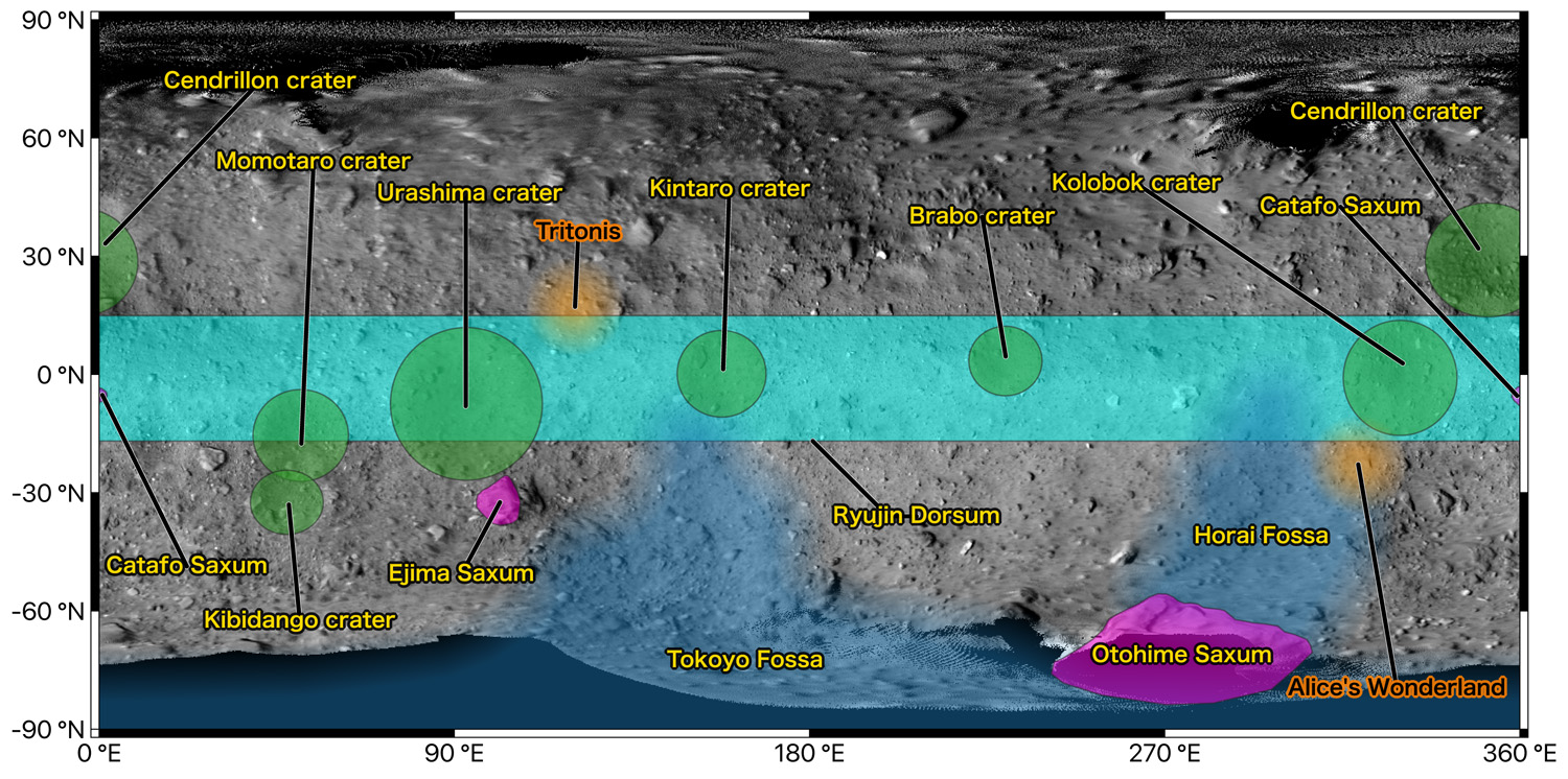Locations on the surface of Ryugu have been named! | Topics | JAXA