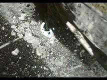 Hayabusa2 sondens ben på overfladen af asteroiden